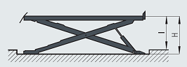 podnośnik nożycowy 9 i 16 ton wymiar 21 - Podnośniki nożycowe do pojazdów ciężarowych