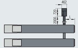 podnośnik nożycowy 9 i 16 ton wymiar 31 - Podnośniki nożycowe do pojazdów ciężarowych