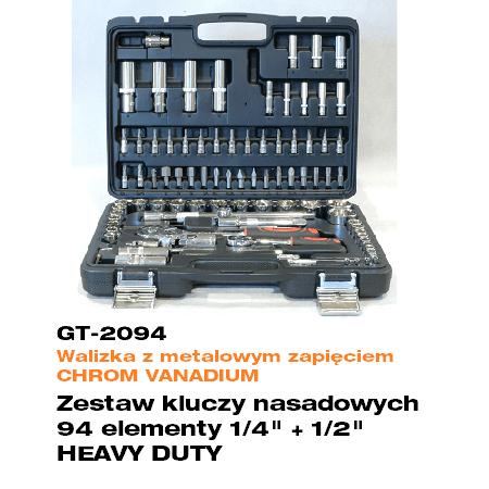 GT 2094 Zestaw kluczy nasadowychelwico serwis - Wózek z wyposażeniem