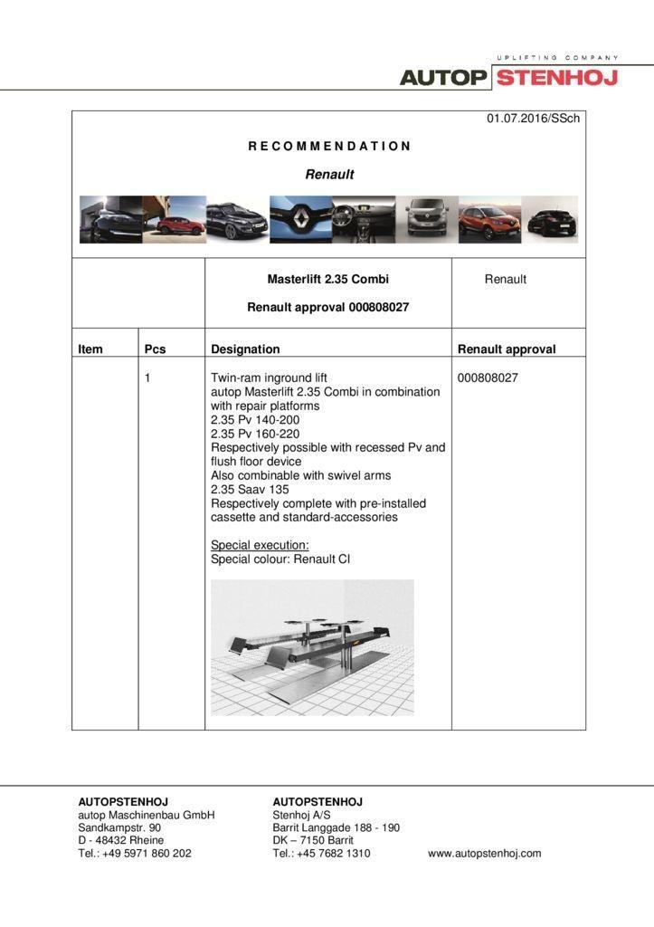Masterlift 235 Combi 000808027   EN  R pdf - Renault