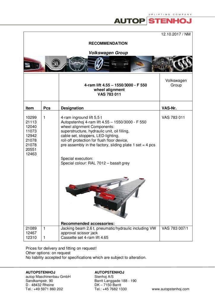 4 Stempel Hebeb hne 455   1550 3000   F550 Achsvermessung VAS 783011 EN  1 pdf - Volkswagen Group
