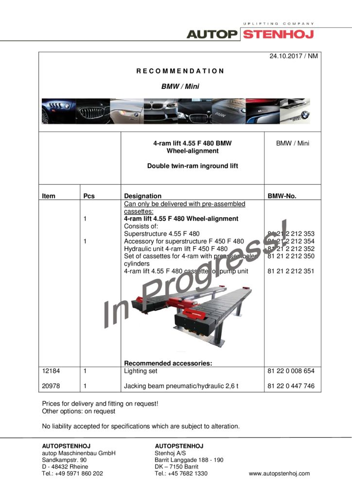 4 ram lift 455 F 480 EN  pdf - BMW / Mini