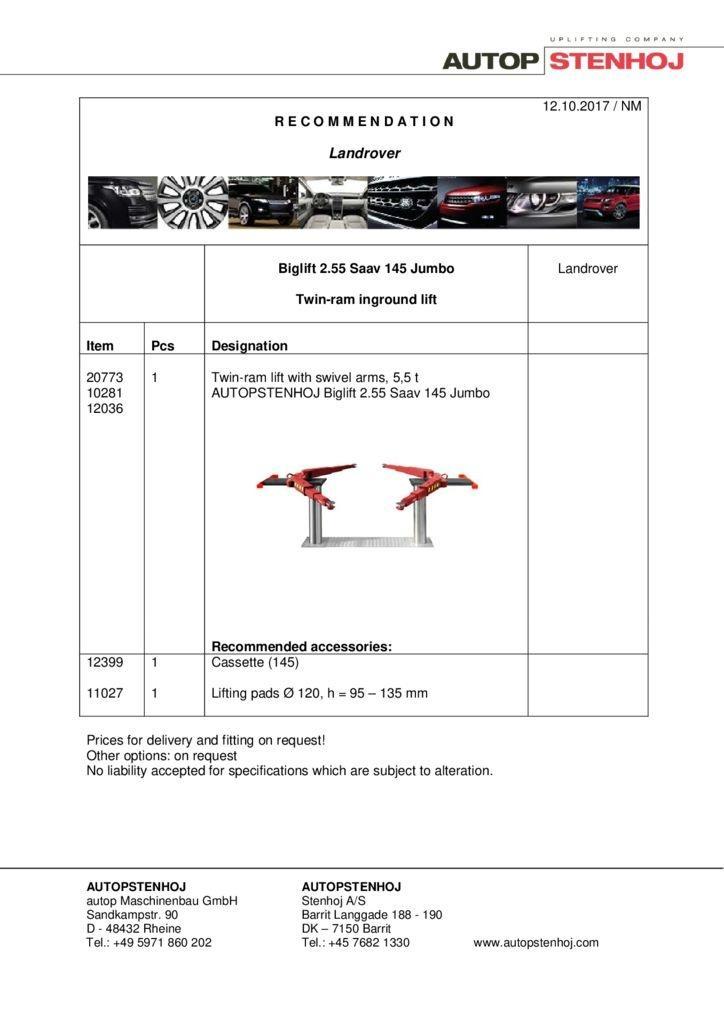Biglift 2.55 Saav 145 Jumbo EN  pdf - Landrover