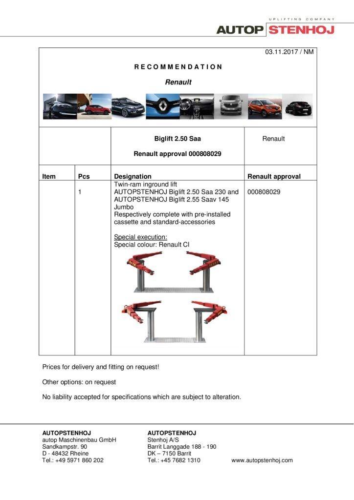 Biglift 250 Saa 000808029 EN  pdf - Renault