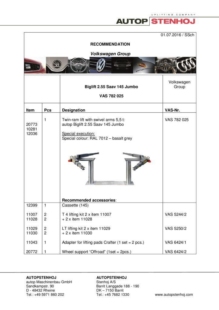 Biglift 255 Saav 145 Jumbo VAS782025   EN  VW pdf - Volkswagen Group