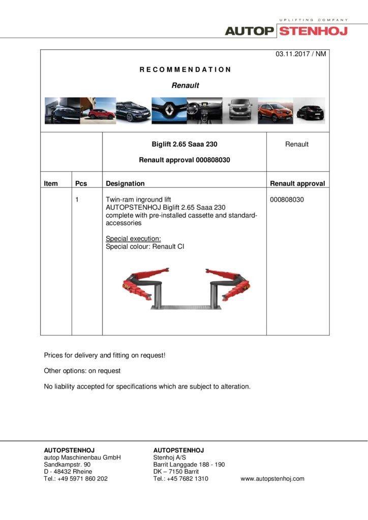 Biglift 265 Saaa 230 000808030 EN  pdf - Renault