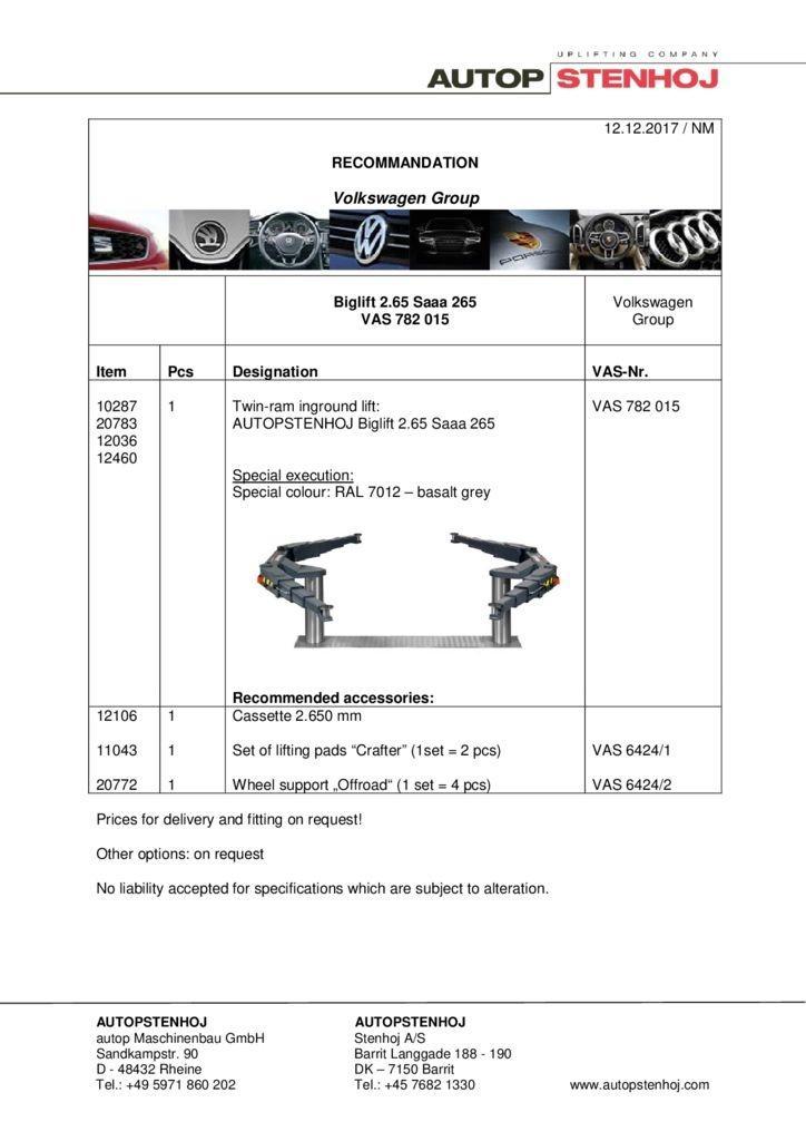 Biglift 265 Saaa 265 VAS 782015 EN  pdf - Volkswagen Group