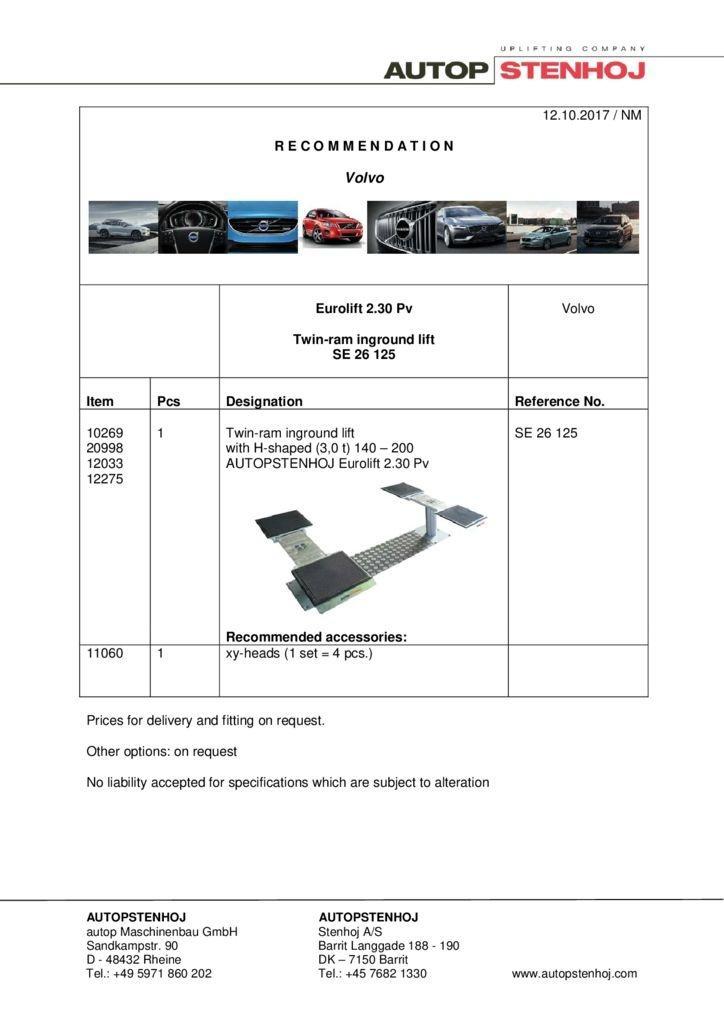 Eurolift 230 Pv SE 26125 EN Volvo pdf - Volvo