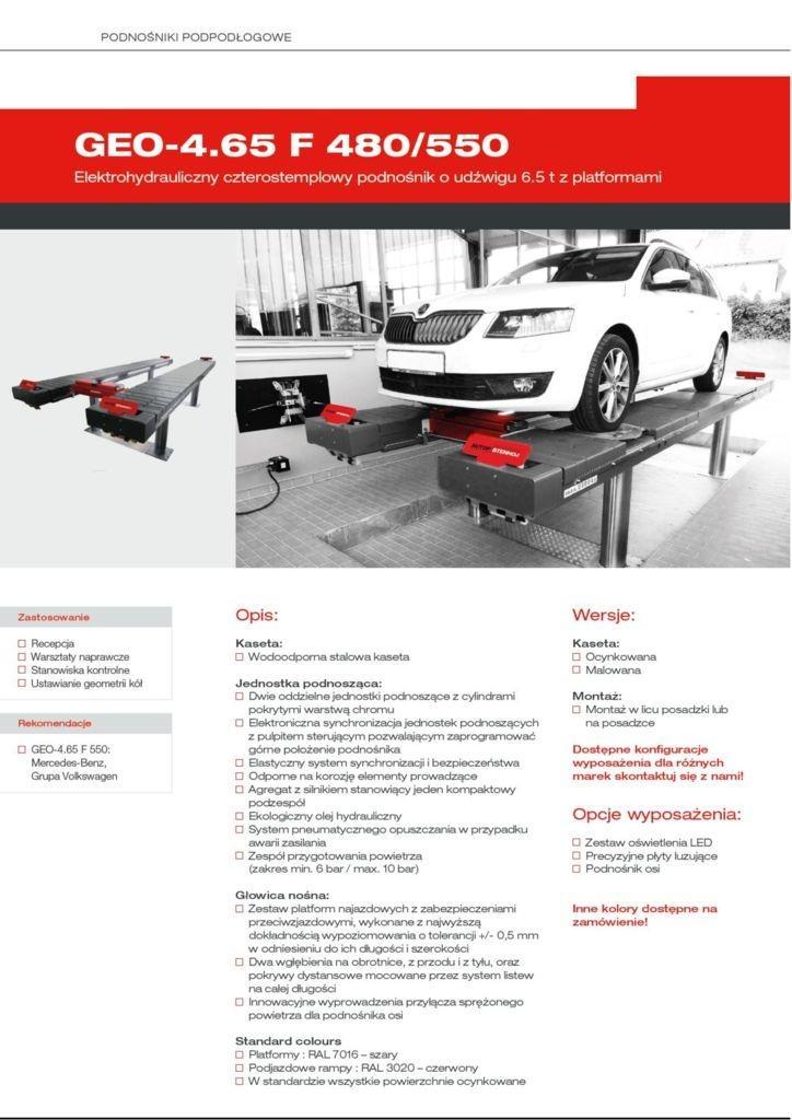 GEO 4.65 F 480 550 ELWICO pdf - Podnośnik samochodowy GEO-4.65 F 550