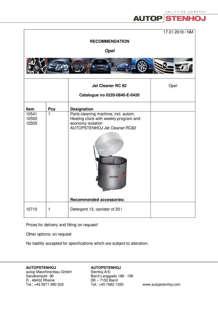 Jet RC 82 Opel approval EN  pdf - Opel