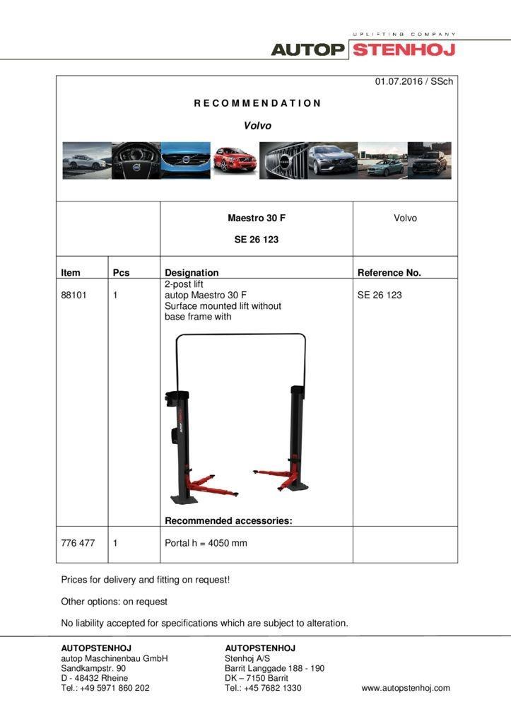 Maestro 30 F SE 26123   EN   Volvo pdf - Volvo