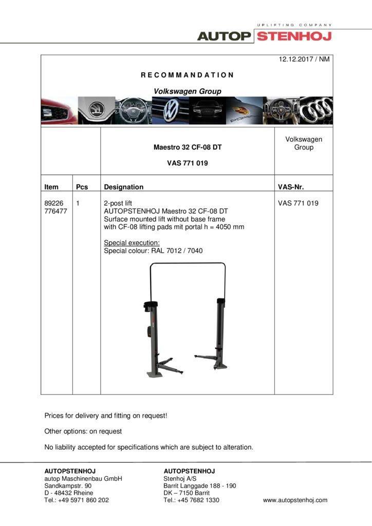 Maestro 32 CF 08 DT VAS 771019 EN  pdf - Volkswagen Group