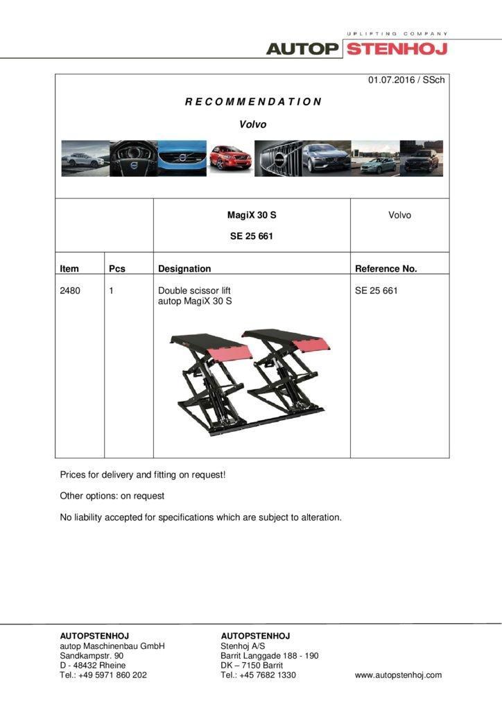 MagiX 30S SE 25661 EN Volvo pdf - Volvo