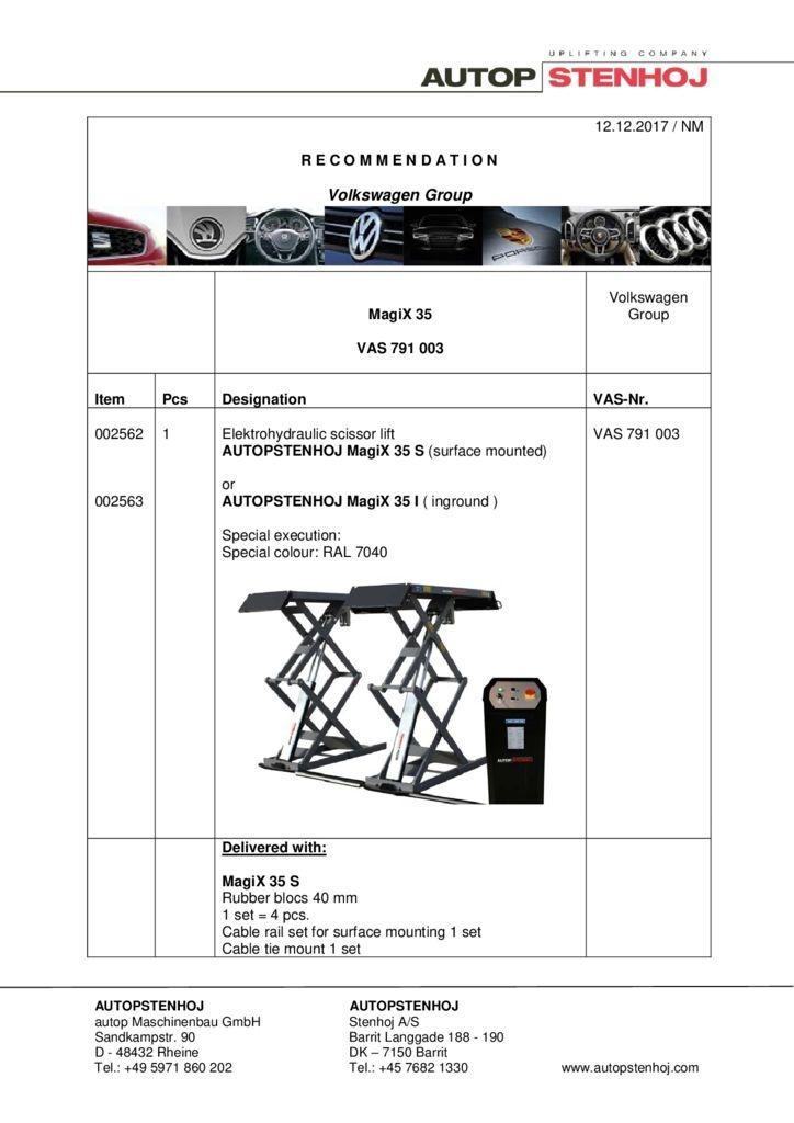 MagiX 35 HS HI VAS 791003 EN  pdf - Volkswagen Group