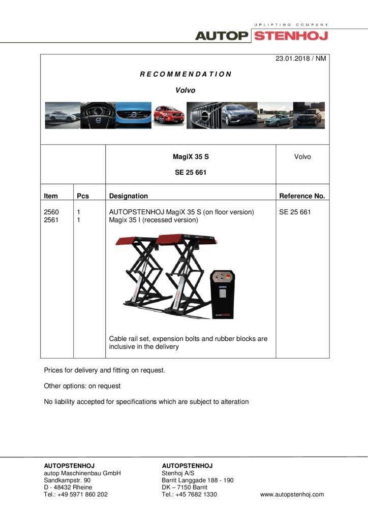 MagiX 35 S SE 25661 EN Volvo pdf - Volvo