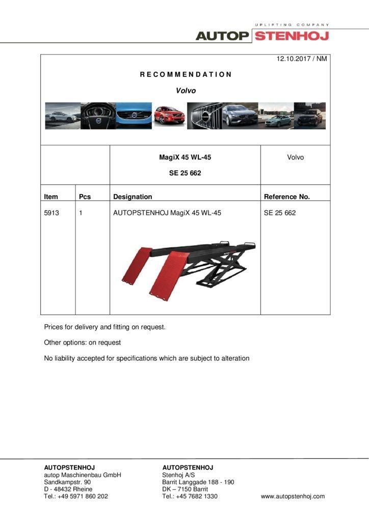 MagiX 45 WL 45 SE 25662 EN Volvo pdf - Volvo
