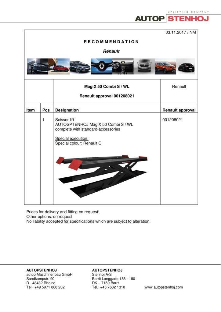 MagiX 50 Combi S WL 001208021 EN  pdf - Renault
