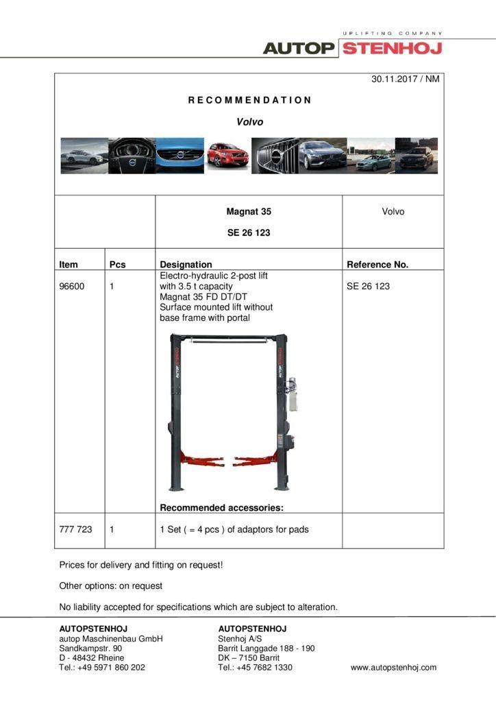 Magnat 35 SE 26123 GB Volvo 2 pdf - Volvo