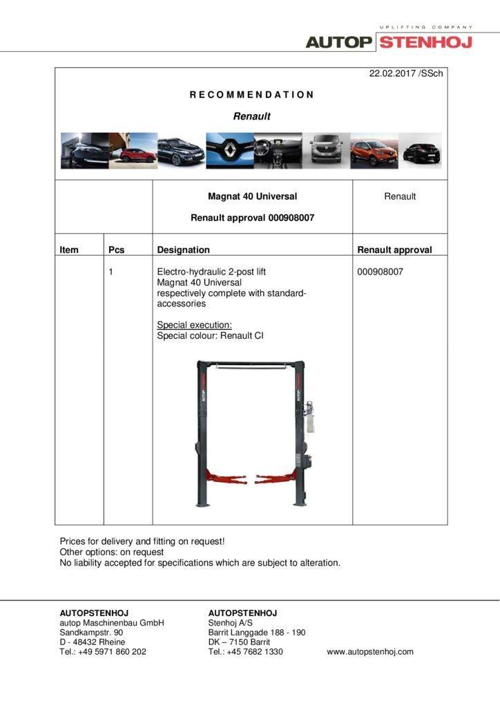 Magnat 40 Universal 00908007 EN  pdf - Renault