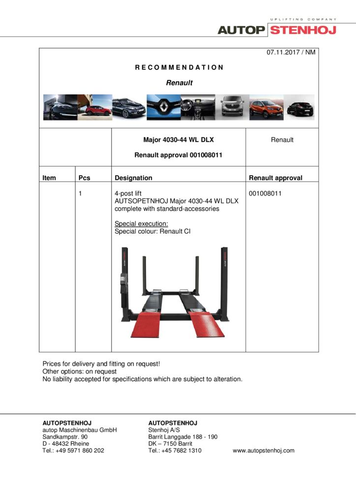 Major 4030 44 WL DLX  001008011 EN  pdf - Renault