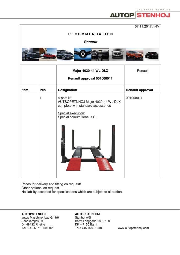 Major 4030 44 WL DLX  001008011 EN  pdf - Renault