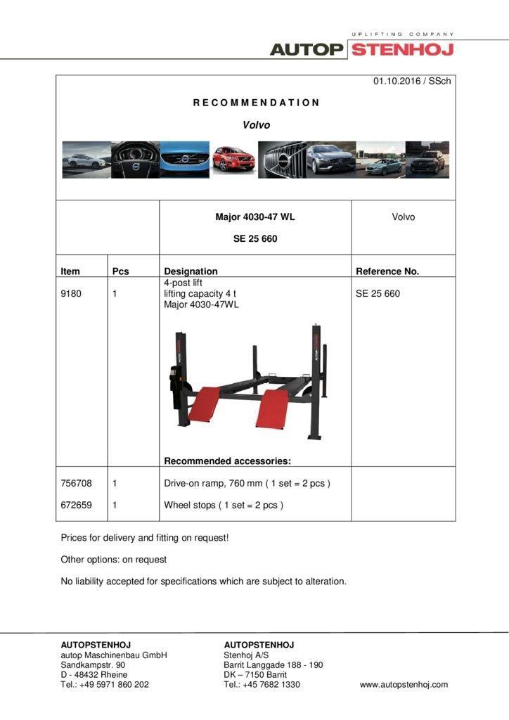 Major 4030 47WL SE 25660 EN Volvo 1 pdf - Volvo