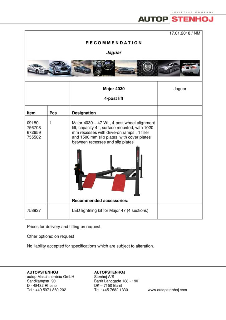 Major 4030 EN  1 pdf - Jaguar