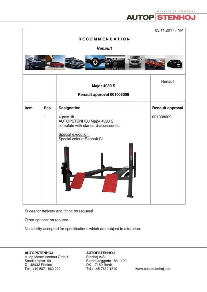 Major 4030 S 001008009 EN  1 pdf - Renault