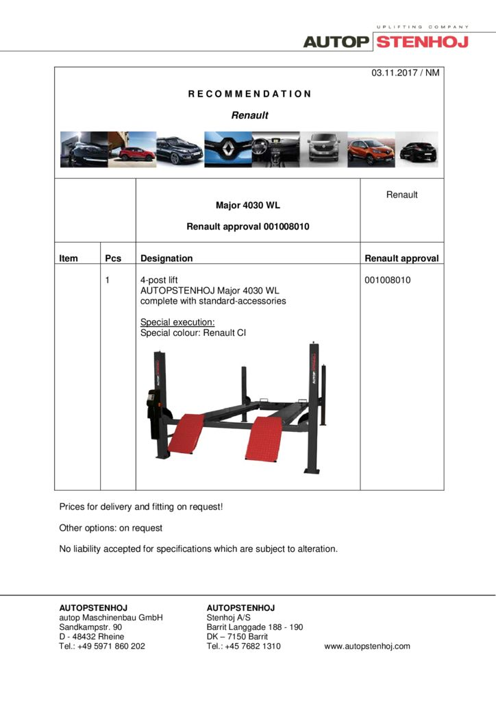 Major 4030 WL 001008010 EN  pdf - Renault