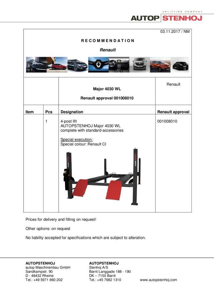 Major 4030 WL 001008010 EN  pdf - Renault