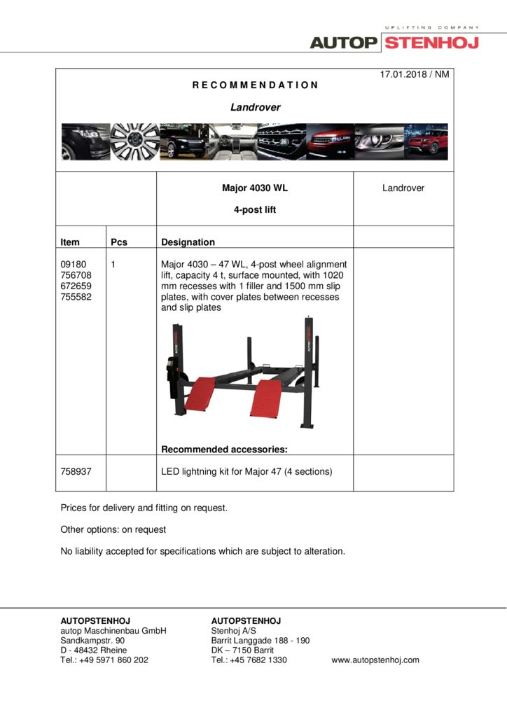 Major 4030 WL EN  pdf - Landrover