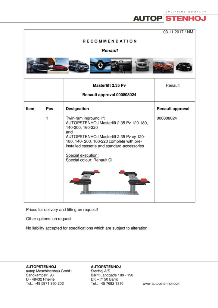 Masterlift 235 Pv 000808024 EN  pdf - Renault