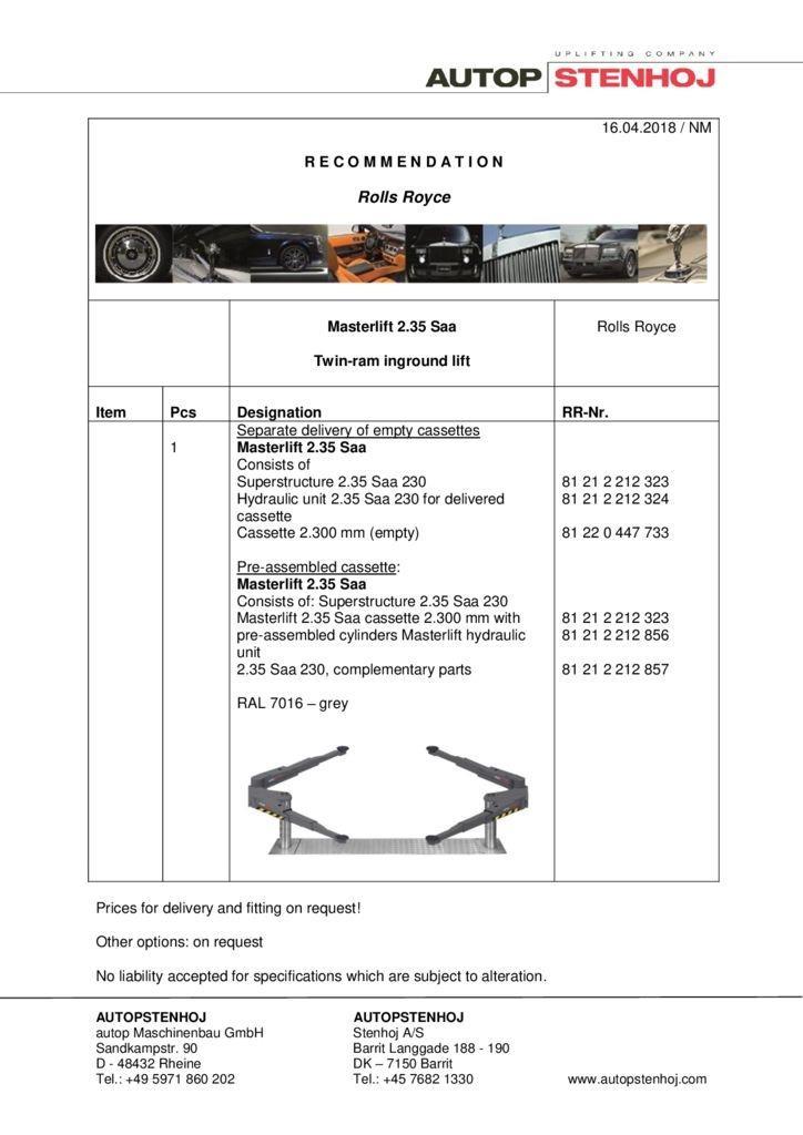 Masterlift 235 Saa 230 RR EN  042018 pdf - Rolls-Royce