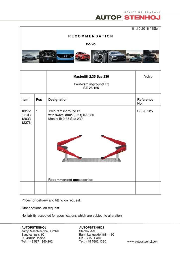 Masterlift 235 Saa 230 SE 26125 GB Volvo 1 pdf - Volvo