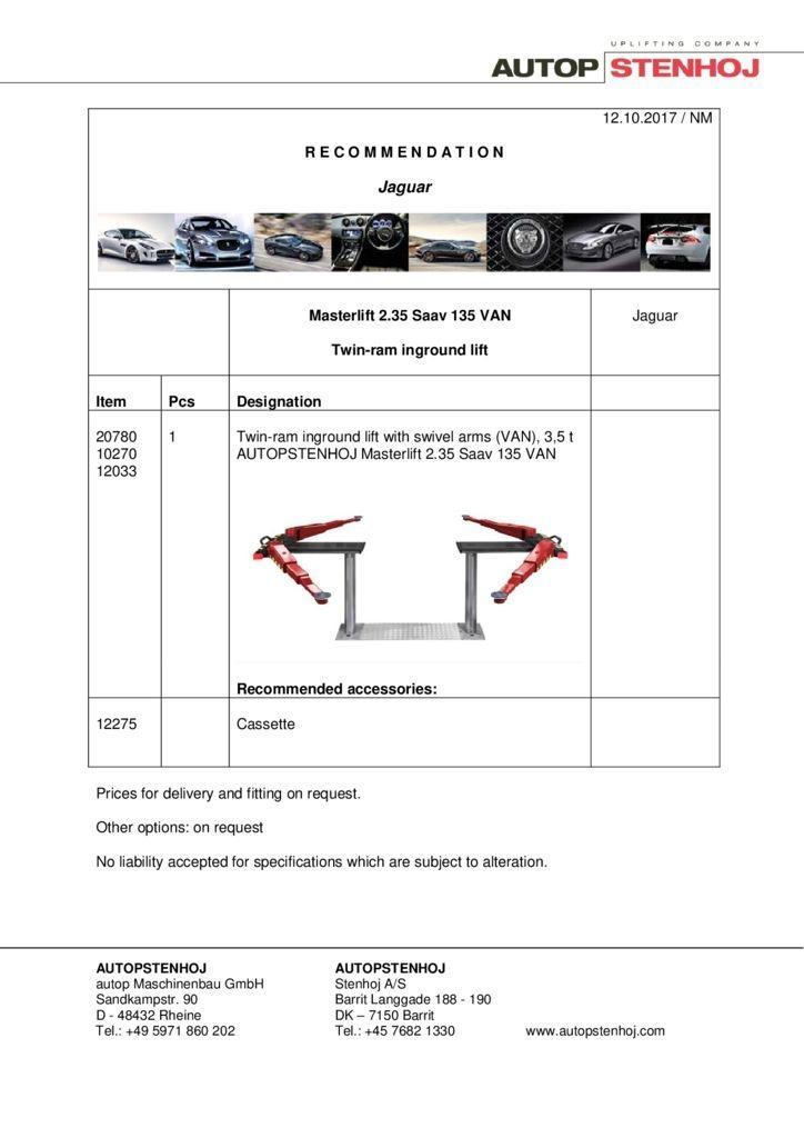 Masterlift 235 Saav 135 VAN EN  pdf - Jaguar