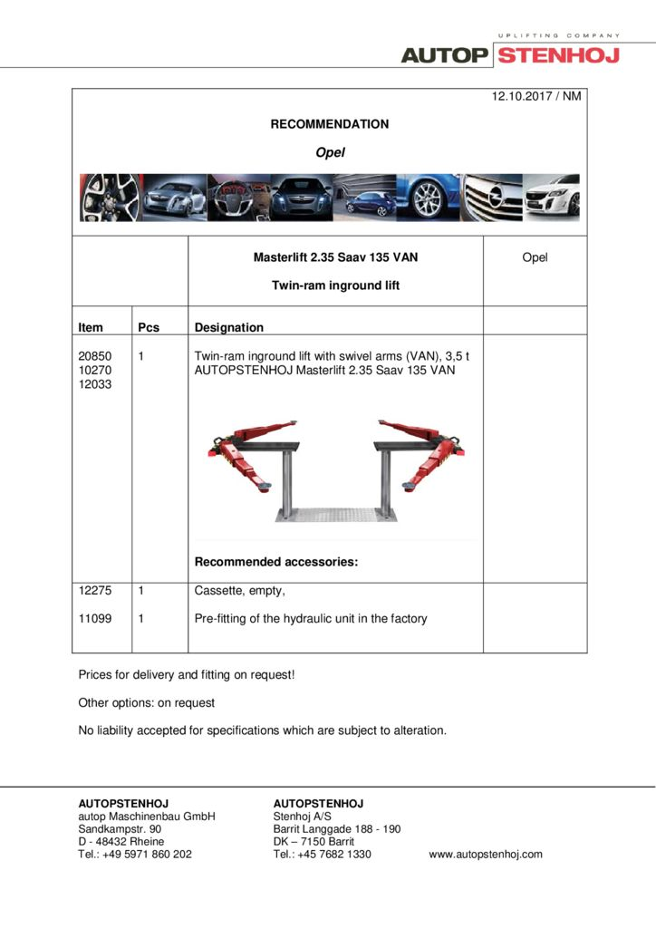 Masterlift 235 Saav 135 VAN EN  1 pdf - Opel