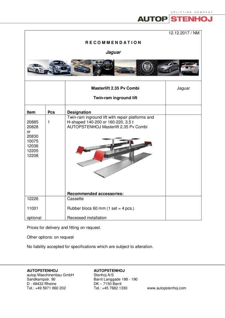 Masterlift Combi 235 F 420 Pv EN  pdf - Jaguar