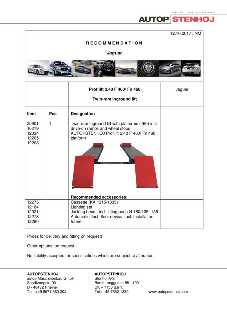 Profilift 240 F 460 EN  pdf - Jaguar