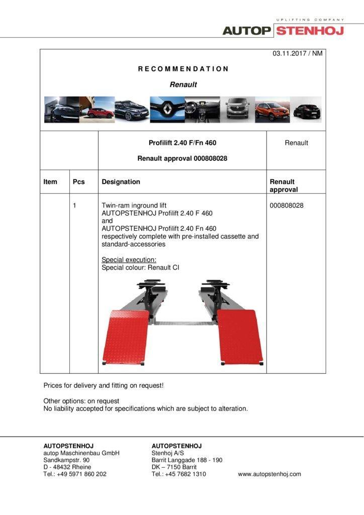 Profilift 240 F Fn 460 000808028 EN  pdf - Renault