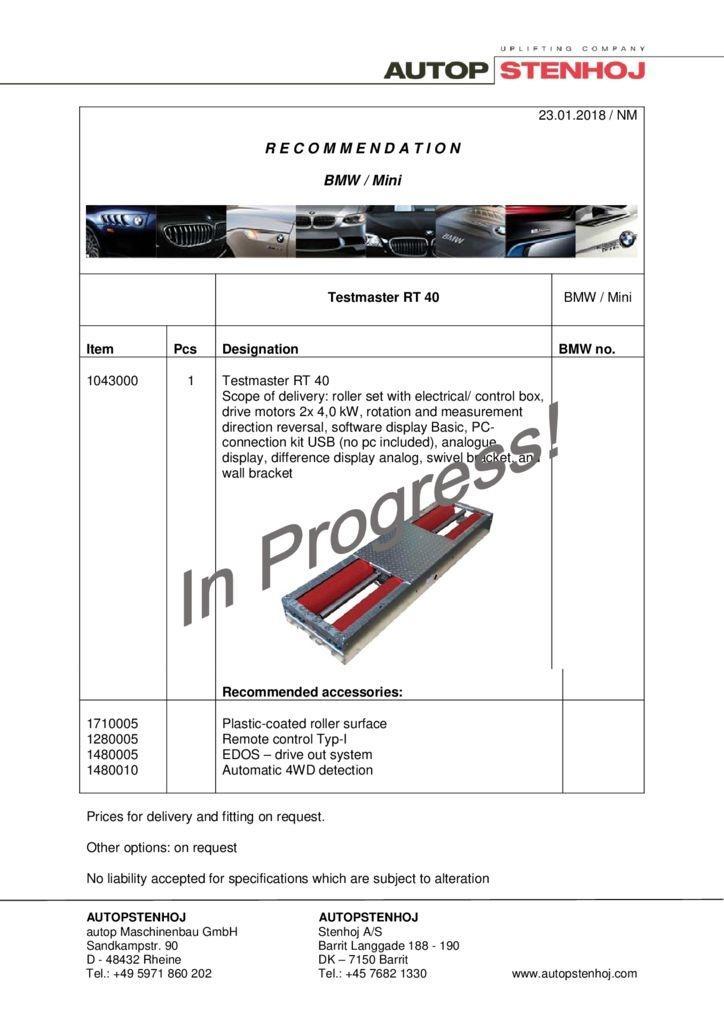RT 40  BMW Mini EN  pdf - BMW / Mini