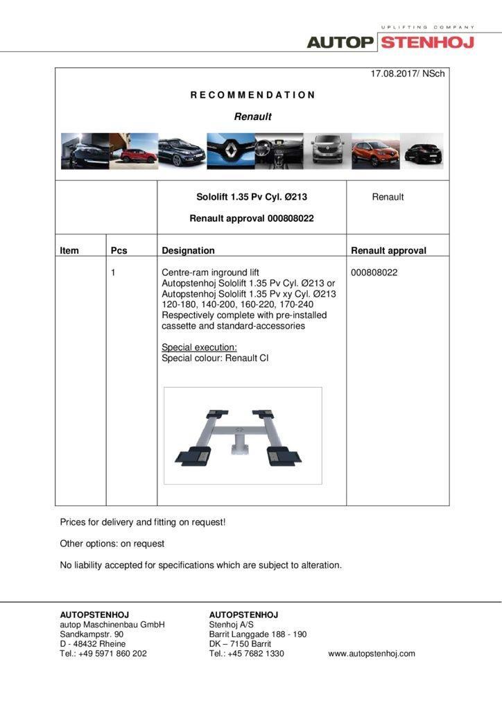 Sololift135Pv Cyl. 213 000808022 EN  1 pdf - Renault
