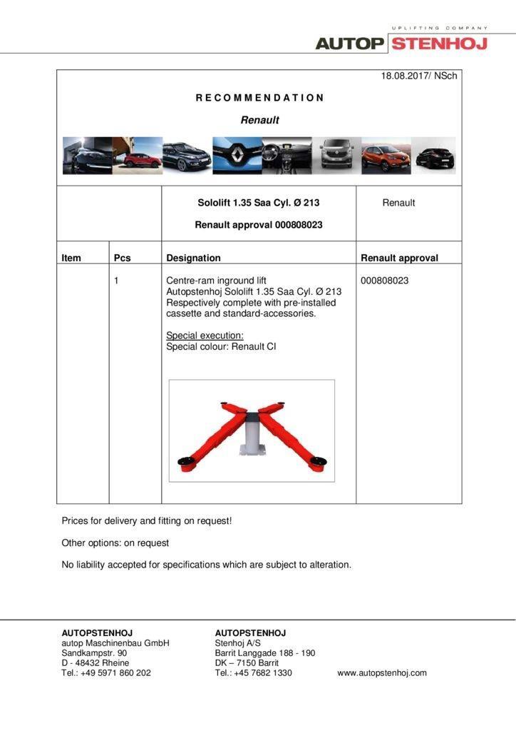 Sololift135 Saa Cyl. 213 000808023 EN  1 1 pdf - Renault