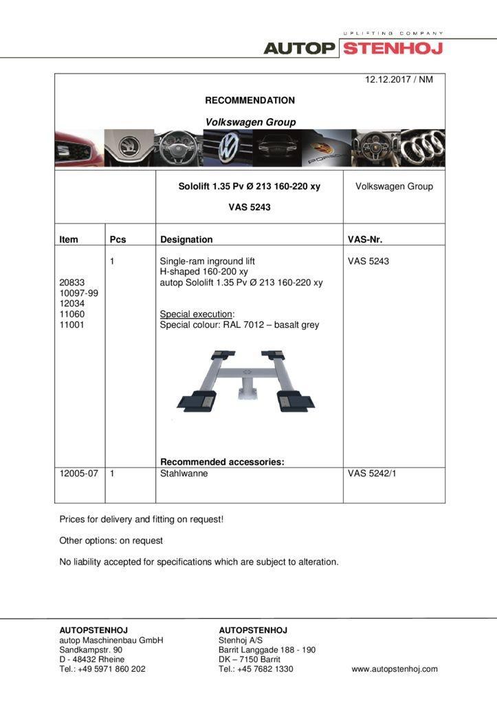 Sololift 1.35 Pv 213 160 220 xy EN pdf - Volkswagen Group