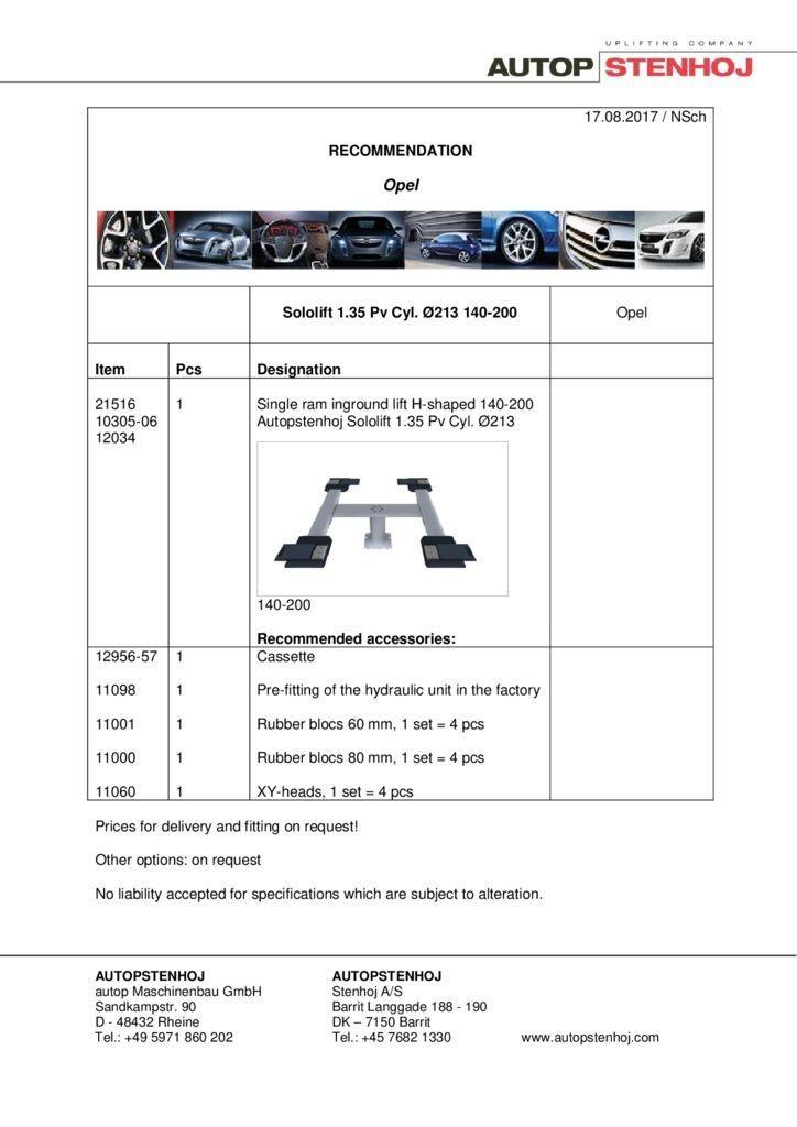 Sololift 135 Pv Cyl. 213 140 200 EN  2 1 pdf - Opel