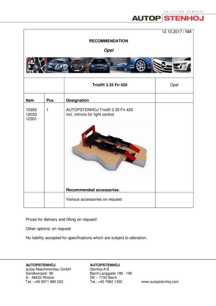 Triolift 335 Fn PKW EN  pdf - Opel