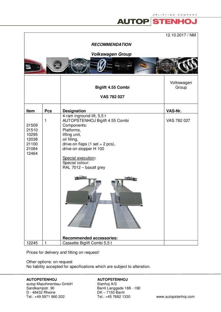 Biglift 455 Combi VAS 782027 EN  pdf - Volkswagen Group