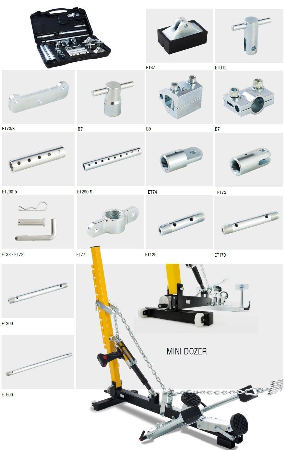 Akcesoria dodatkowe Electro power poszczególne elwico serwis - Elektro-hydrauliczny system napraw karoserii