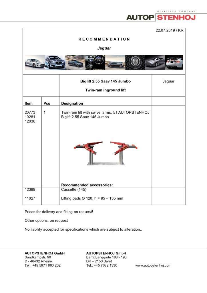 Update Biglift 255 Saav 145 Jumbo EN  pdf - Jaguar