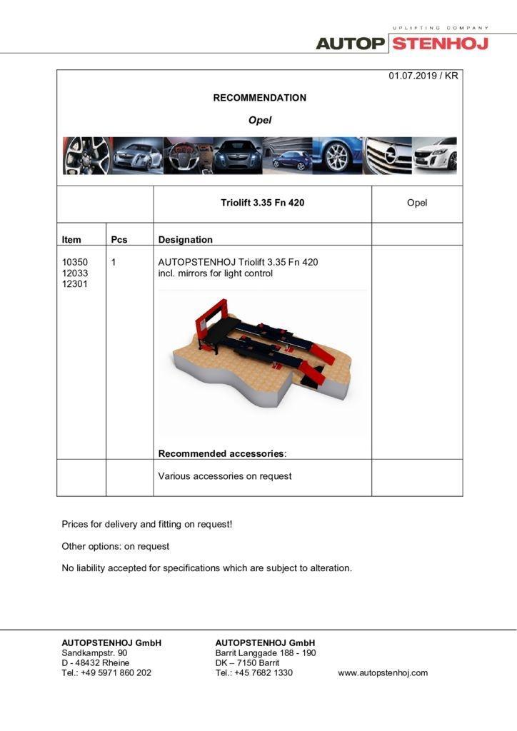 Update Firmenname Triolift 335 Fn PKW EN  pdf - Opel