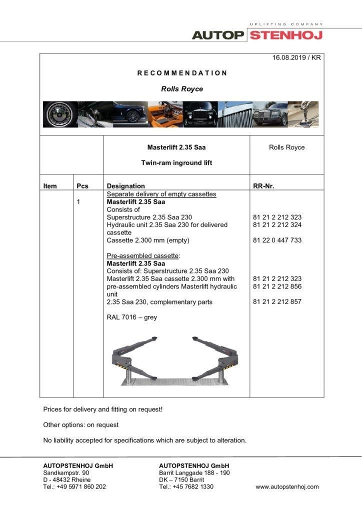 Update Masterlift 235 Saa 230 RR EN  042018 pdf - Rolls-Royce